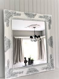 Mirror : Stunning White Distressed Mirror Shabby Chic Living Room with  regard to Shabby Chic White