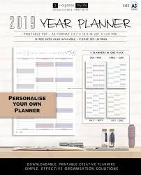 Wedding Planner Wall Chart 2019 Personalise Wall Planner Downloadable Wall Calendar