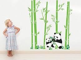 pvc cute cartoon panda bamboos decor