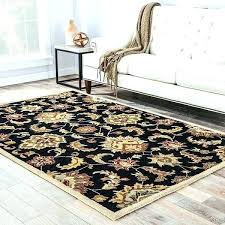 oval rug handmade fl black tan area braided rugs 8x10 contemporary indoor outdoor round rectangle large