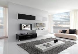 modern living room white. Minimalist Living Room Black And White Color Decoration Modern M