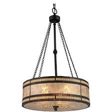 elk lighting drum pendant light with beige mica shade in bronze finish 3 fixtures ideas amber