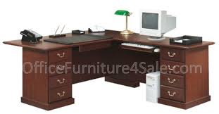 picture of sauder heritage hill executive l shape desk