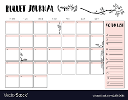 Monthly Planner Free Download Bullet Journal Year Monthly Planner
