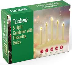 8 Light Christmas Candolier Tupkee Christmas Candolier Window Candles With Flickering