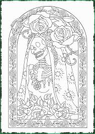 Unique Stocks Of Day Of The Dead Coloring Pages Coloring Pages