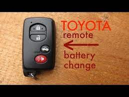 How To Toyota Key Fob Remote Keyless Battery Change Replace Remote Toyota Fobs