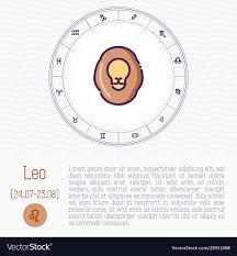 Leo In Zodiac Wheel Horoscope Chart