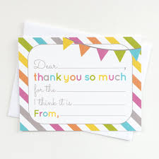 Fill In The Blank Thank You Cards Kids Birthday Or Any Occasion Note Card 4 25 X 5 5 Inches Pack Of 15