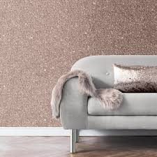 muriva sparkle plain rose gold glitter