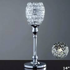 table top chandelier candle holder decorative votive tealight crystal goblet wedding centerpiece tall lamps