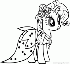 Small Picture Rarity Friendship Is Magic Coloring Pages Free Printables