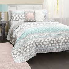 Best 25+ Quilt sets ideas on Pinterest | Bed linen sets, Cath ... & Turquoise & Pink Elephant Stripe Five-Piece Quilt Set Adamdwight.com