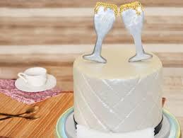 Champagne Glass Fondant Cake Cheers Of Togetherness Cake Bakingo