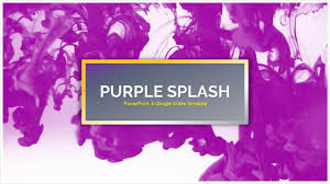 Purple Splash Free Powerpoint Templates Google Slides Themes