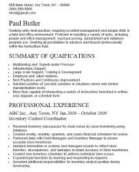 Inventory Control Specialist Resume 5
