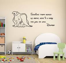 dumbo e wall decal disney elephant nursery decor art mural vinyl sticker 1 of 1free see more