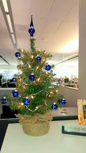 images office cubicle christmas decoration. Cubicle Christmas Decoration With Medium Sized Tree And Blue Balls Images Office