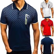 <b>Summer Men</b> Gradient Print <b>Turndown Collar</b> Short Sleeve Button T ...