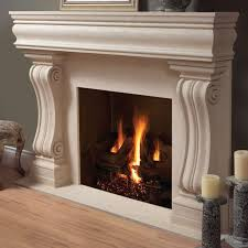 cute broken white fireplace mantel kits matched with grey wall and wooden floor for inspiring home