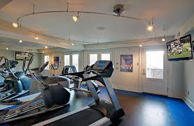 home gym lighting. dc metro circular track lighting home gym contemporary with black floor l ceiling beams 5