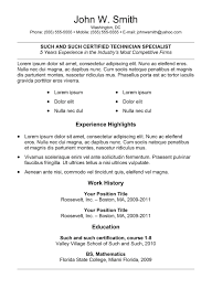 Examples Of Resumes 7 Simple Resume Templates Free Download Best