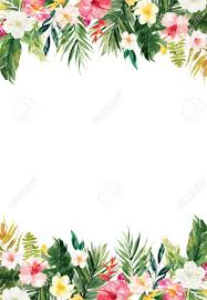Paper With Flower Border The Vertical White Blank Paper Background With Colorful Plants