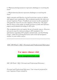 Soc 490 Effective Communication Snaptutorialcom