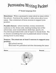 best persuasive writing images teaching writing petsuasive writing packet grade language artsdirections write a persuasive essay about an issue inthe school