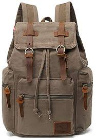 High Capacity Canvas Vintage Backpack - for School ... - Amazon.com