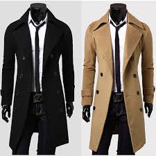 long coats for men stylish double ted overcoat men long trench winter coat vcmtqap