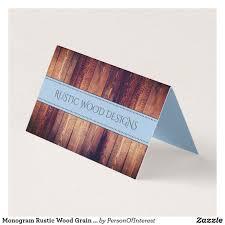 Rustic Grain Designs Monogram Rustic Wood Grain Design Business Card Zazzle Com