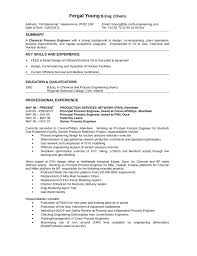 chronological process engineer resume template .