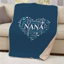 heart word art sherpa throw personalized mother s day gifts