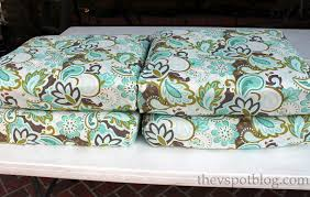 patio furniture cushion covers amazing no sew project how to recover your outdoor cushions using