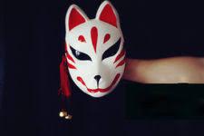japanese for mask full face hand painted japanese fox mask kitsune cosplay masquerade
