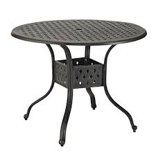 Aluminum Outdoor Dining Table Walker Edison 42 Round Cast Aluminum Patio Dining Table Wayfair