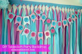 many diy party decorations made daughter birthday