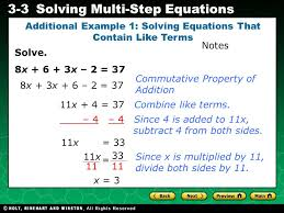 evaluating algebraic expressions 3 3solving multi step equations solve