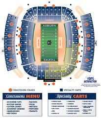 Auburn University Jordan Hare Stadium Seating Chart 2013 Concessions Map Auburn Football Stadium Auburn