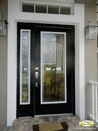 black glass front door. Change The Existing Glass In Door Traditional Entry Black Front Doors With A