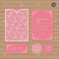 Invitation Envelope Template Wedding Invitation Or Greeting Card With Floral Ornament Paper