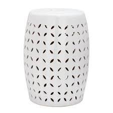 safavieh acs4509 lattice petal garden stool white garden stool84
