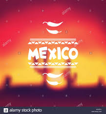 Mexican Style Graphic Design Ethnic Mexican Background Design In Native Style Stock