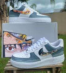 Naruto and Sasuke custom painted sneaker by Ortegarte | Nike air shoes,  Sneakers fashion, Naruto shoes