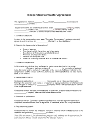 Contract Agreement Template Between Two Parties Free Independent Contractor Agreement Forms Templates