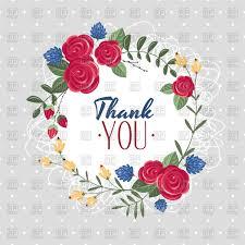Thank You Gift Card Wreath Stock Vector Image