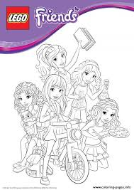 Small Picture lego friends bike Coloring pages Printable