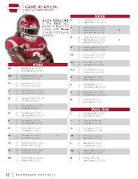 Arkansas Football Depth Chart Lsu Game Depth Chart Arkansas Razorbacks