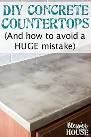 pouring concrete countertops in place diy feather finish concrete countertops blesser house